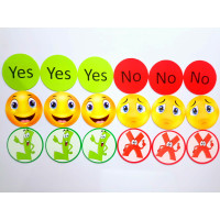 Yes-No, Tick-Cross, İfade Magnet Seti