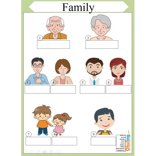 Family Members Aile Bireyleri Yaz Sil