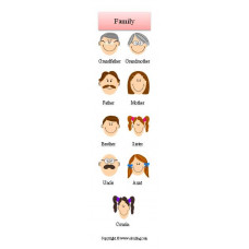 Family Bookmark- Aile Kitap Ayracı