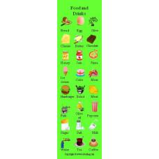 Food and Drinks Bookmark- Yiyecek ve İçecekler Kitap Ayracı