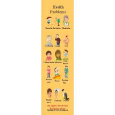 Health Problems Bookmark - Sağlık Sorunları Kitap Ayracı