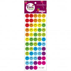 Sticker Cesitleri Renkli Gulen Yuz Sticker Gulen Yuz Sticker